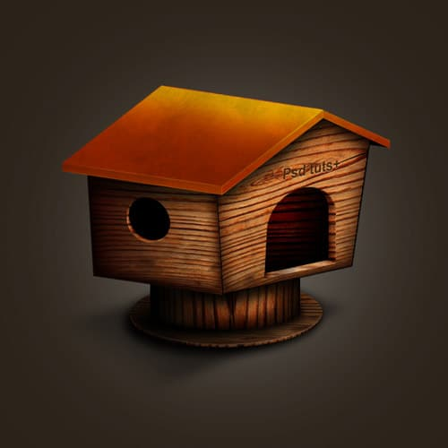 Create A Wooden House Icon in Photoshop