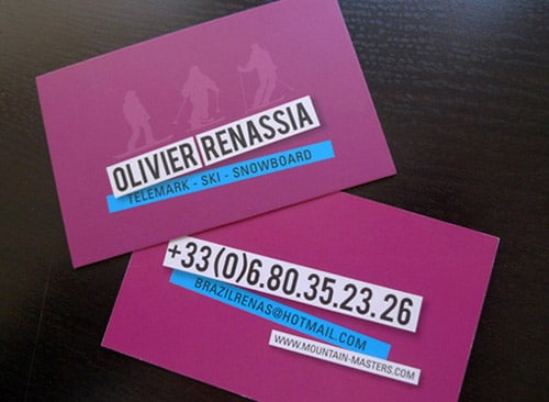 Ski Business Card