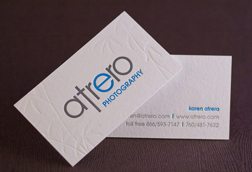 100% Cotton Business Cards By Catherine Lorenzo Realce