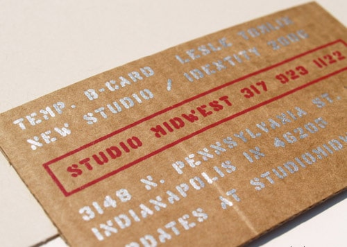 Business Card for: Studio Midwest