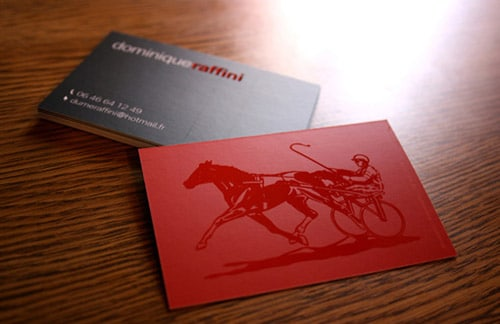 Unique business cards showcase of inspirational designs horse business card by flora ambrosini colourmoves