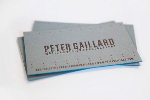 Business Card for: Peter Gaillard