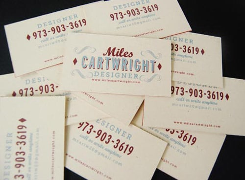 Miles Cartwright Card