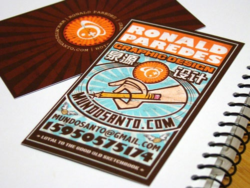 Business Card for: Ronald Paredes