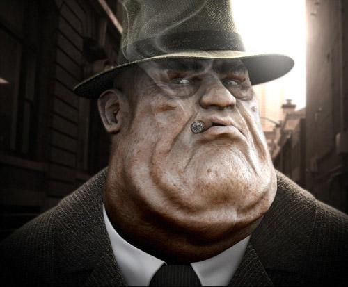 Fat Mafia Boss by Sven Rabe