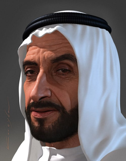 Sheikh Zayed by Oleg Koreyba