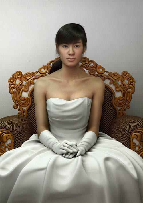 Girl on Chair by JIAN XU