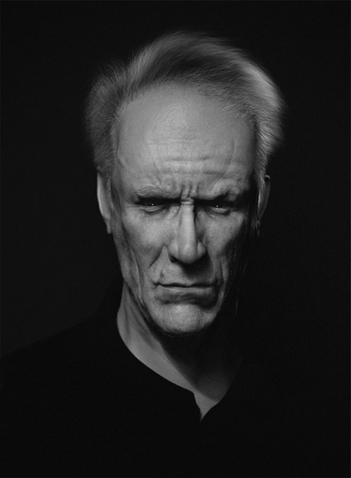 Clint Eastwood by Hasan Bajramovic