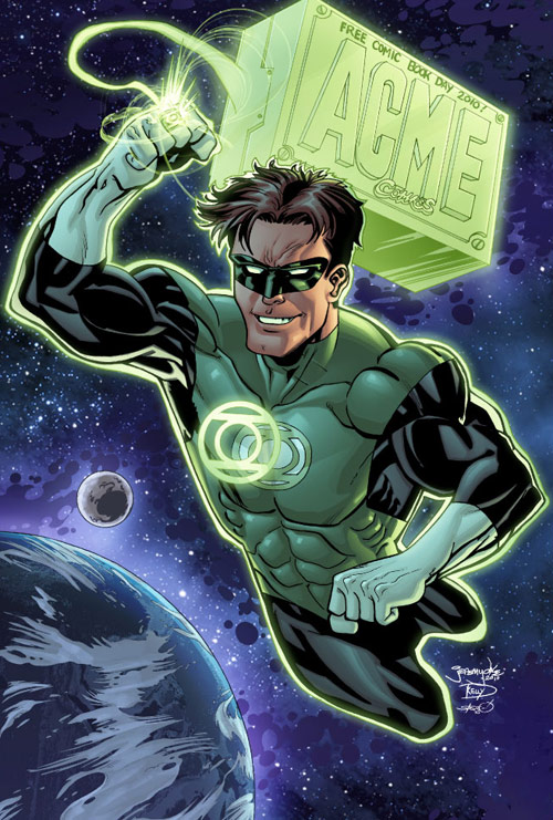 Green Lantern FCBD colors by thincage