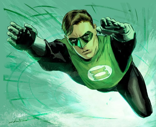 Green Lantern Colored by mbreitweiser