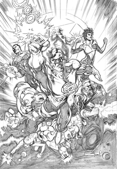 Green Lantern Corps by Cinar
