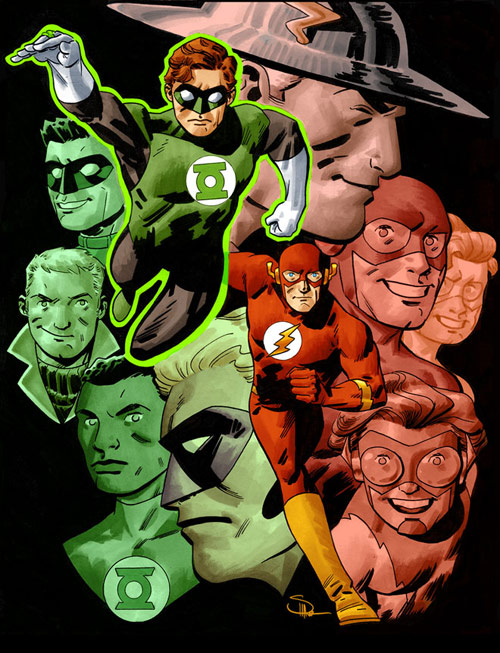 Green Lantern - The Flash by DocShaner