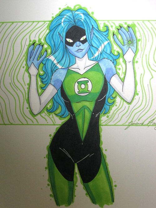 female green lantern by windriderx23