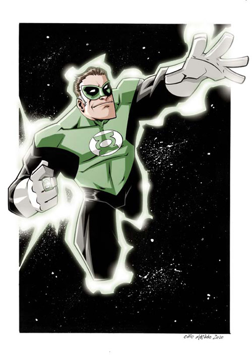 Green Lantern color by caiomajado