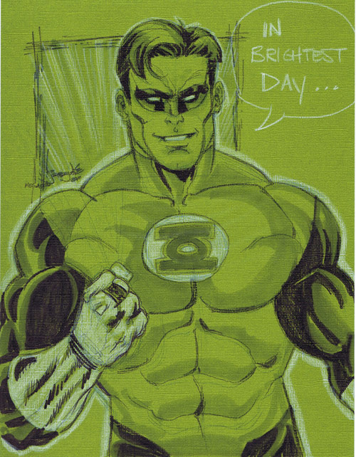 SKETCH Green Lantern megacon by thincage