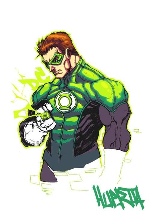 Green Lantern Man by aztekh
