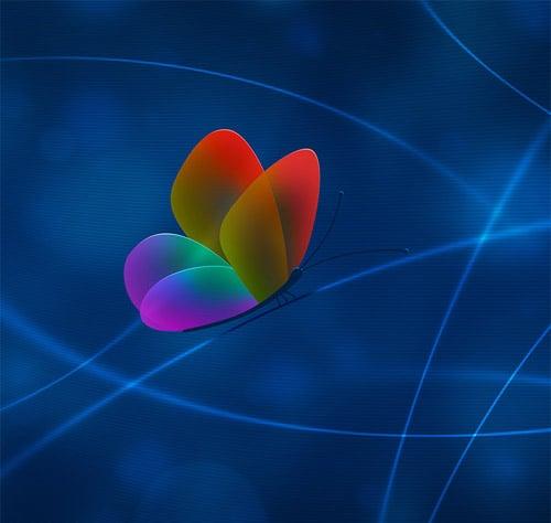Rainbow Butterfly Apple IPad Wallpaper