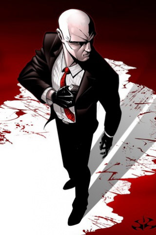 Hitman Cartoon iPhone Wallpaper