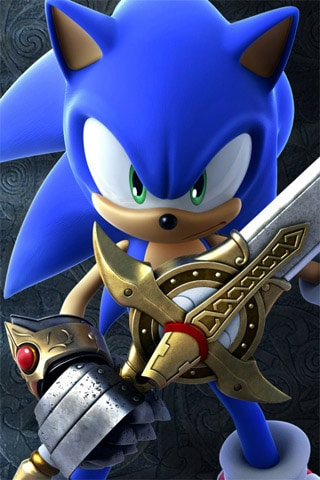 Sonic The Black Knight iPhone Wallpaper