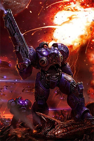 StarCraft 2 Marine iPhone Wallpaper