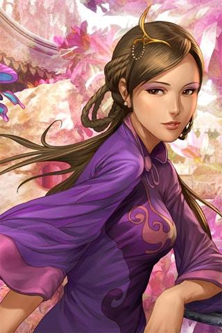 Three Kingdoms: Da Qiao iPhone Wallpaper