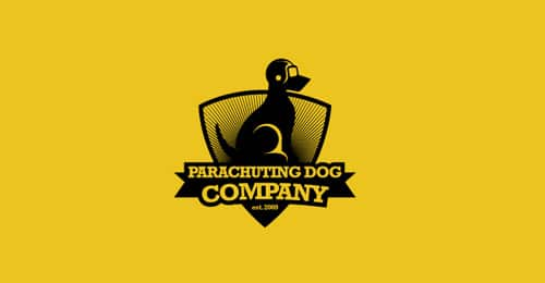 Parachuting Dog by reno