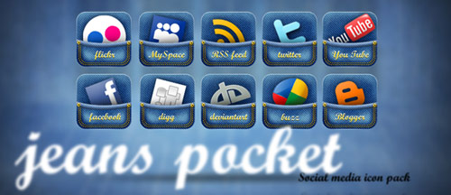 Jeans Pocket Social Media Icon by annanta