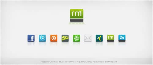 Social Media Icons by basstar