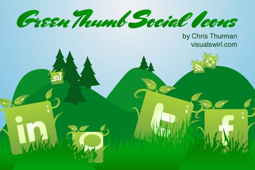 Green Thumb: A Free Social Media Icon Set