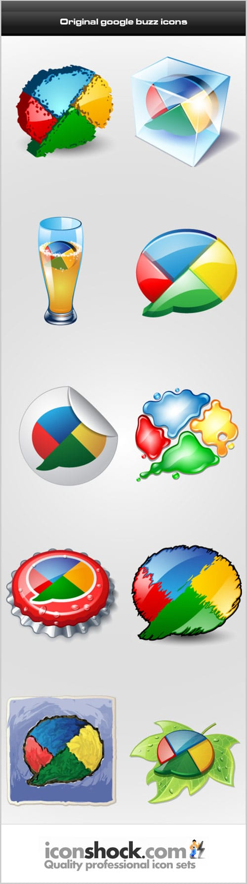 Original google buzz icons