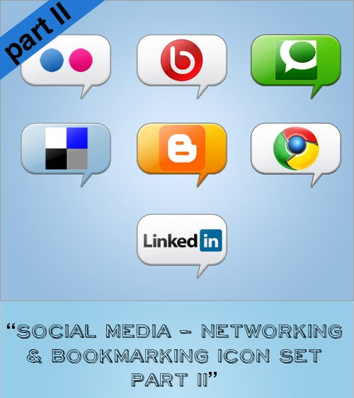 Part 2 - Free Social Media Networking & Bookmarking Icon Set