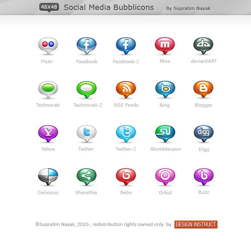 Social Media Bubblicons by HYDRATTZ