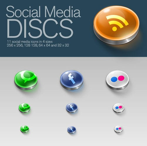 Social Media Discs by zeolyte