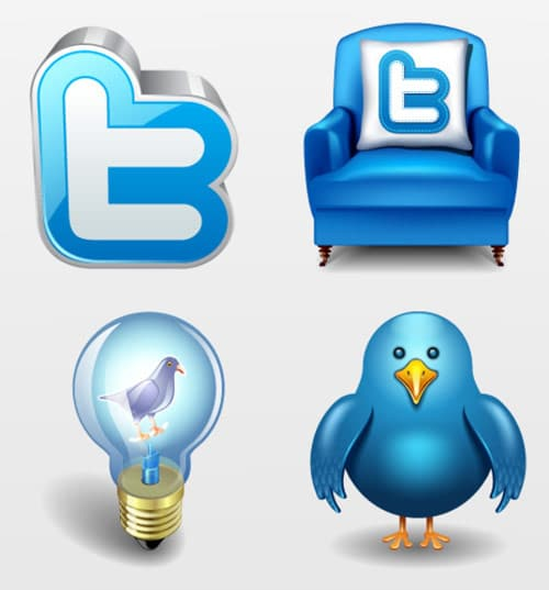 Twitter vector icons massive icon set