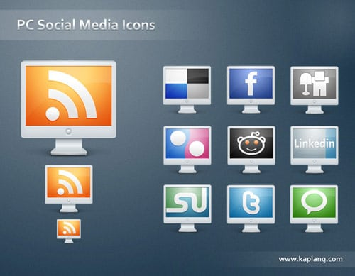PC Social Media Icons by kyo-tux