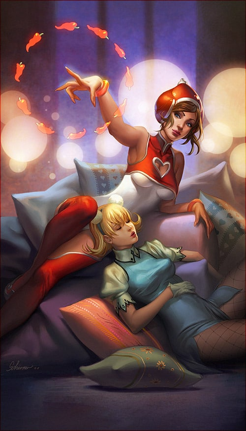 Pepper and Wanda lounge by janaschi