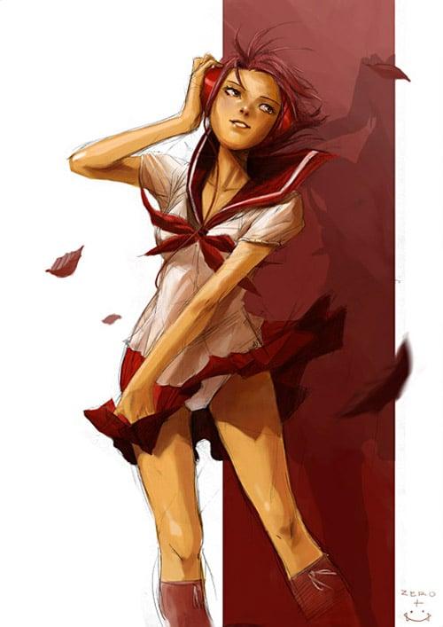schoolgirl pepper by hendryzero