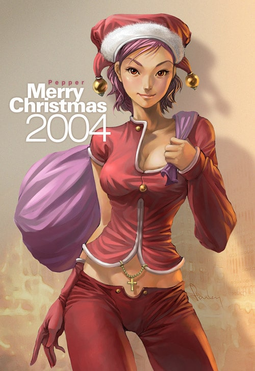 Pepper Christmas 2004 by Artgerm