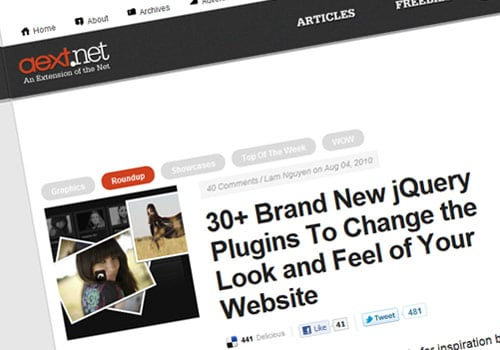 30+ Brand New jQuery Plugins To Change the Look and Feel of Your Website