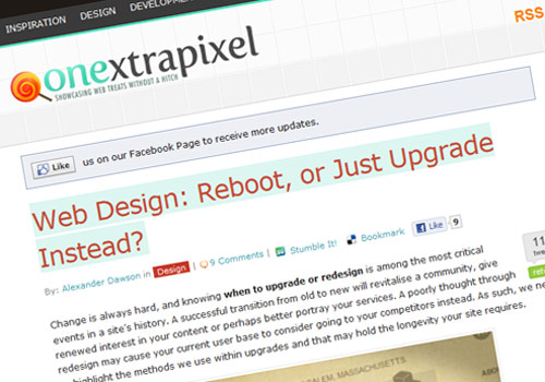 Web Design: Reboot, or Just Upgrade Instead?