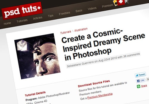 Create a Cosmic-Inspired Dreamy Scene in Photoshop