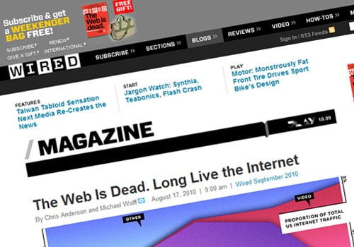 The Web Is Dead. Long Live the Internet