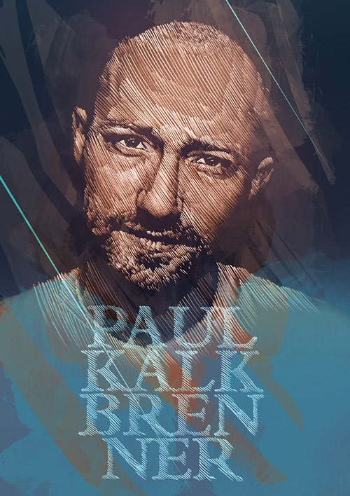 Paul Kalkbrenner - Illustration for Mad Club - Lausanne. Pencil and Photoshop.