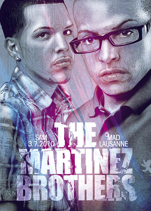 The Martinez Brothers - Illustration for Mad Club - Lausanne. Pencil and Photoshop.