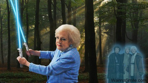 Betty White does Star Wars