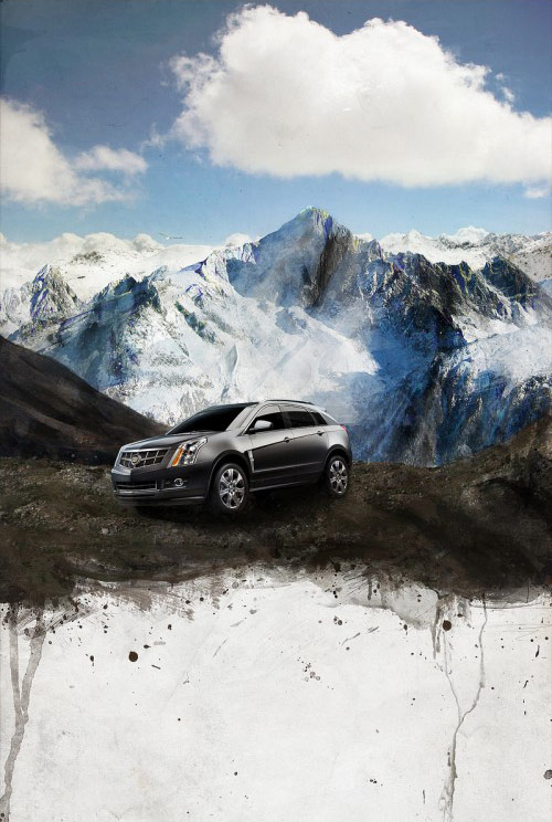 Design and Photomanipulate a Gorgeous Outdoor Cadillac Car Advertisement