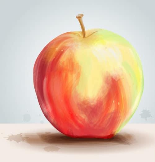 Create a Painterly Apple with Illustrator CS5's new Bristle Brush
