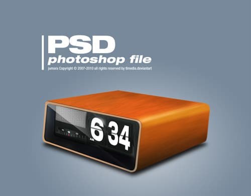 retro clock PSD by TLMedia