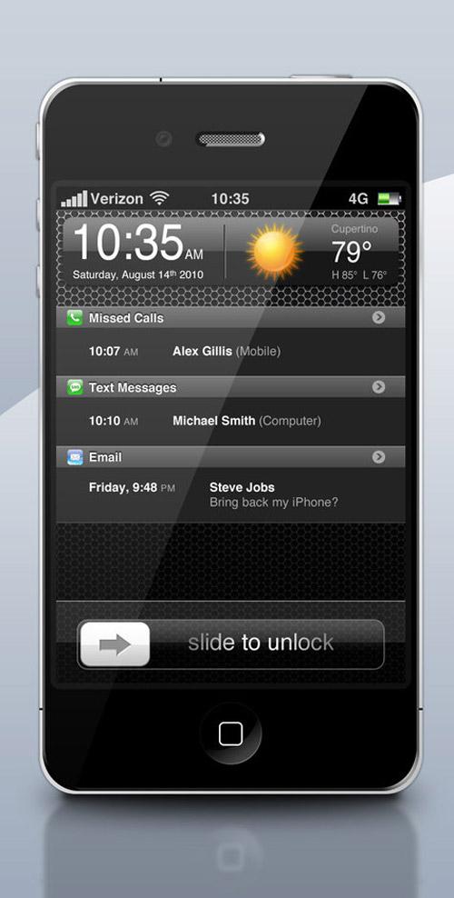 Apple iPhone 4G .PSD by zandog