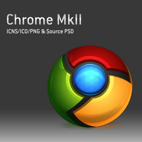 Chrome MkII Icons and PSD by domox